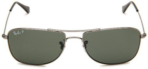 f1b59800a68 New Ray Ban RB3477 004 58 Gunmetal Crystal Green Lens 59mm Polarized  Sunglasses by