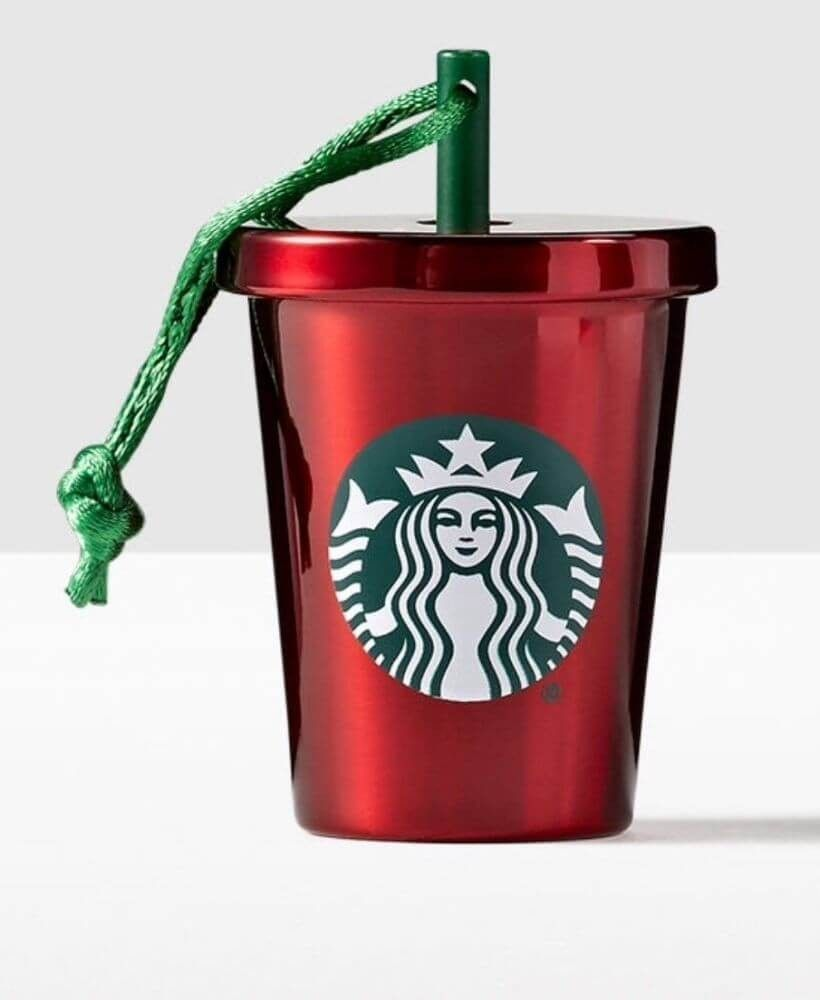 Starbucks Christmas Ornaments 2019.Starbucks Red Stainless Steel Cold Cup Holiday Ornament