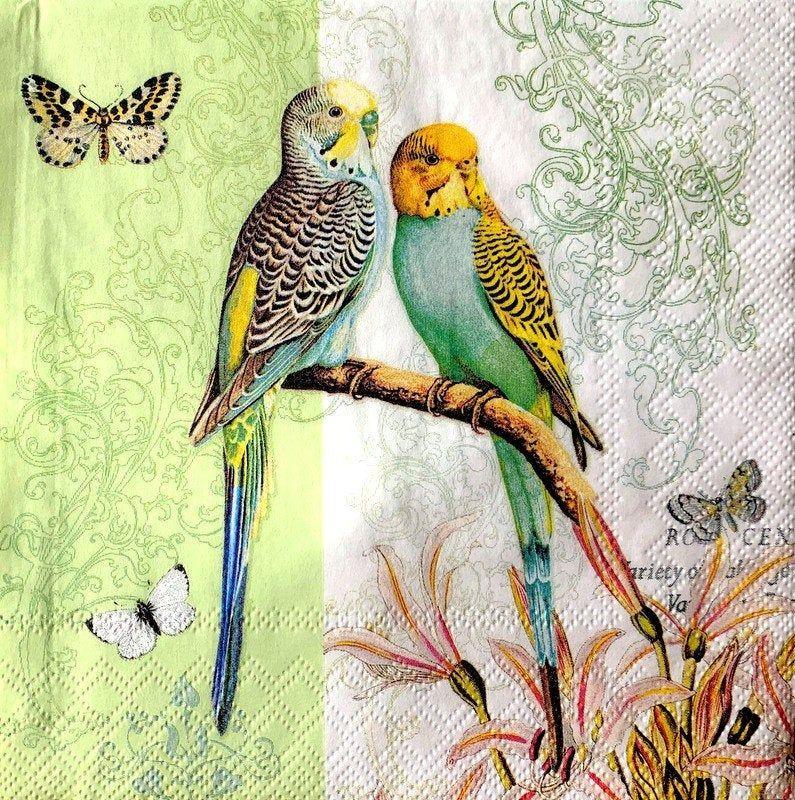 Parties Weddings Serviettes for Decoupage 2 Paper Napkins Parrot