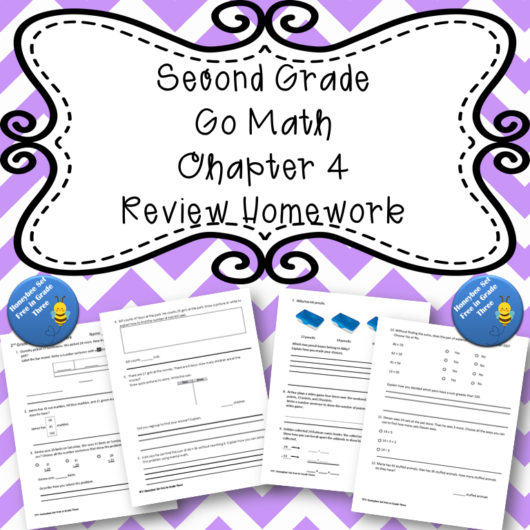 Second Grade Go Math Chapter 4 Review Homework in 2020 ...
