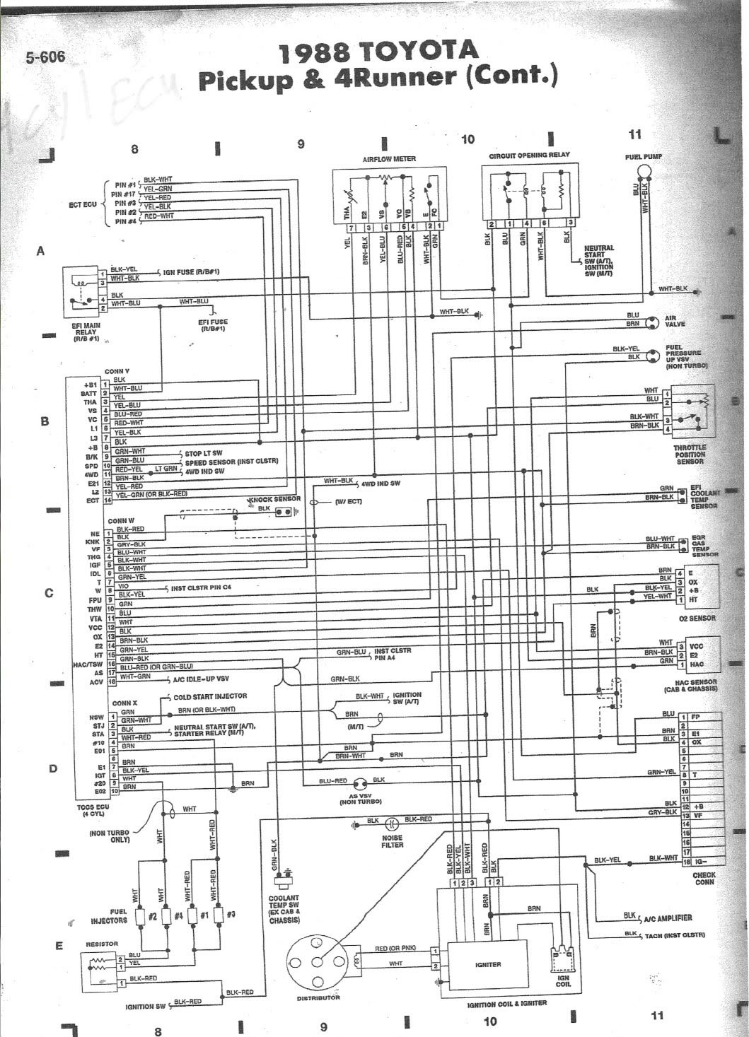 hight resolution of  1995 toyota 4runner 3vze engine wiring diagram 88 3vze 5 speed wiring diagram help page 2 yotatech forums