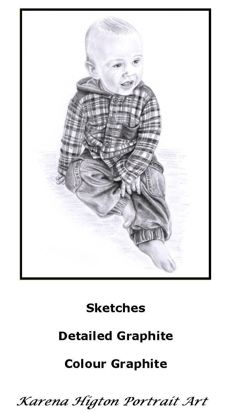 a4 baby boy sketch child pencil portrait drawing a4 sketches from 25