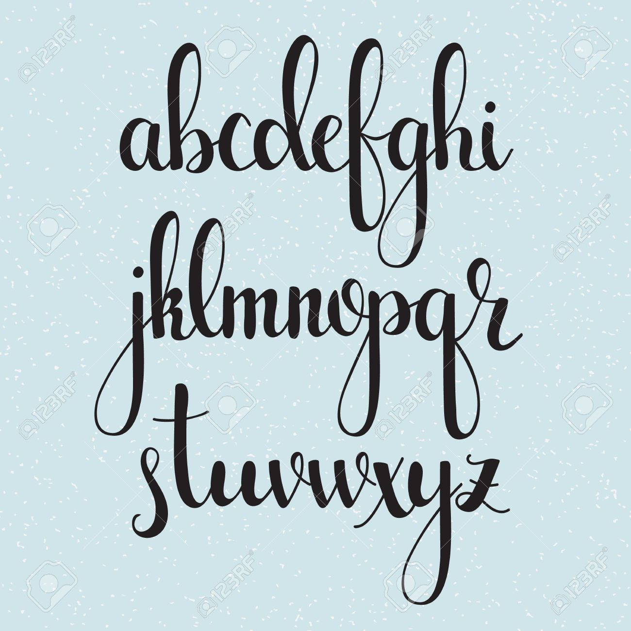 vector handwritten brush style modern calligraphy