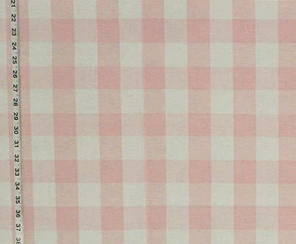 Buffalo Check Fabric White Pastel Rt Chest Dl84 Pale Pink