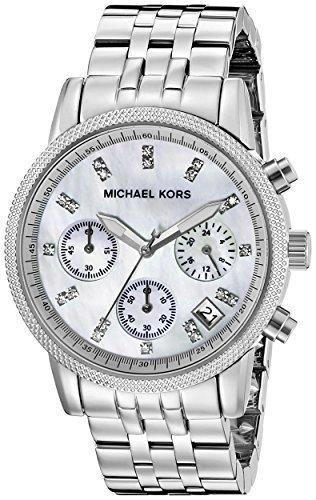 834bf181f82a Michael Kors Women s Ritz Silver-Tone Watch MK5020