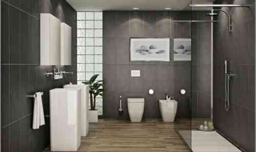 Idée décoration Salle de bain \u2013 carrelage de salle de bain avec sol