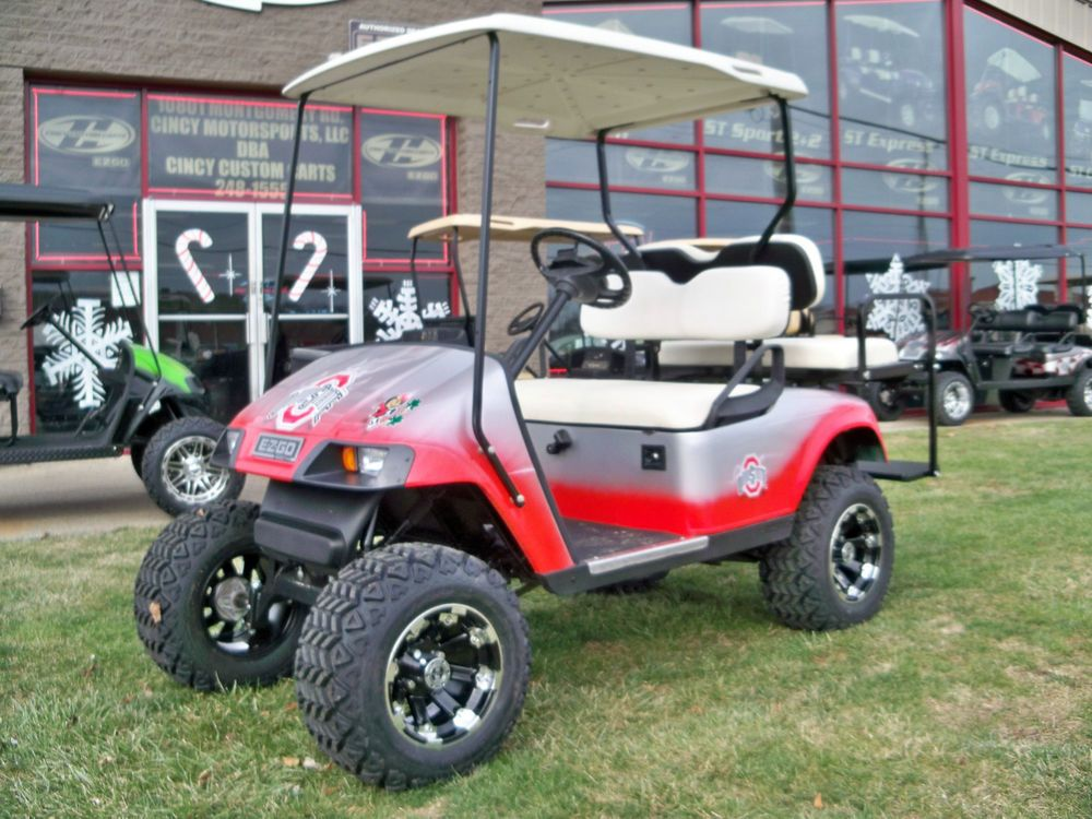 2007 Ezgo Txt Gas Custom Golf Cart Ohio State Awesome 4 Passenger Gas Custom Golf Carts Golf Carts Ohio State