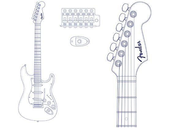 Fender Stratocaster Headstock Template Fender stratocaster