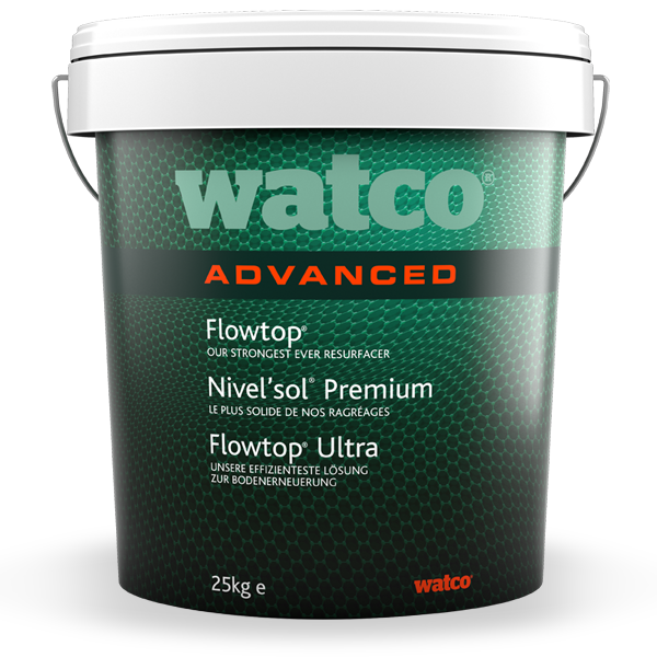 Watco Flowtop Advanced 25kg Tub Concrete Floor Repair Watco Concrete Floors