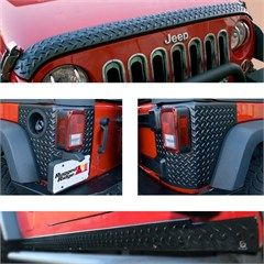 Rugged Ridge Jeep Wrangler 5 Piece Body Armor Guard Kit Black 11651 51 07 18 Jeep Wrangler Jk 2 Door Jeep Wrangler Accessories Jeep Accessories Jeep Wrangler