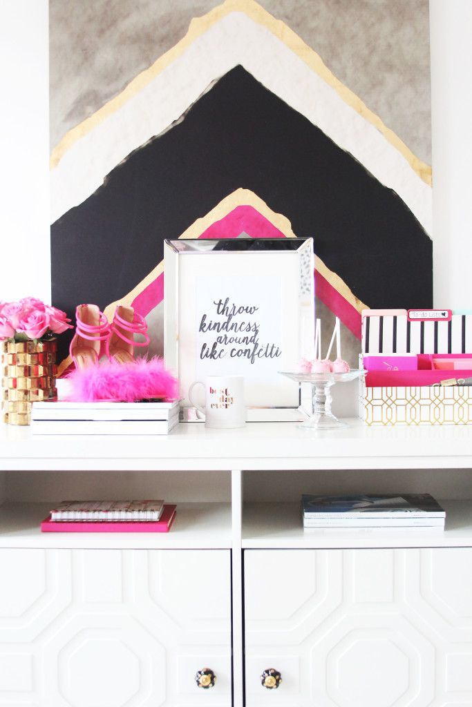 girly office. meagan wardu0027s girlychic home office tour girly