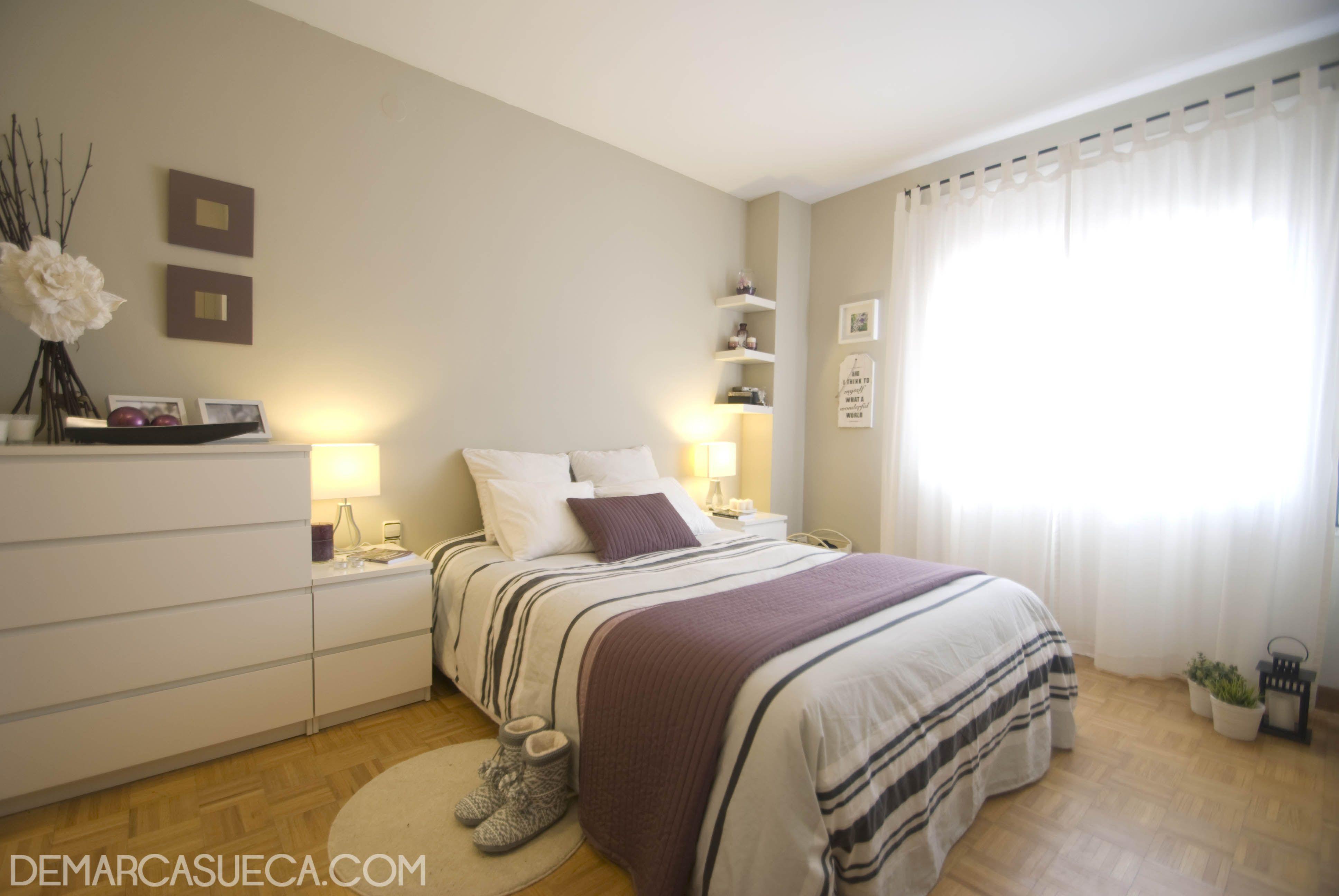 Habitaci n de matrimonio con mobiliario malm de ikea for Amueblar habitacion matrimonio
