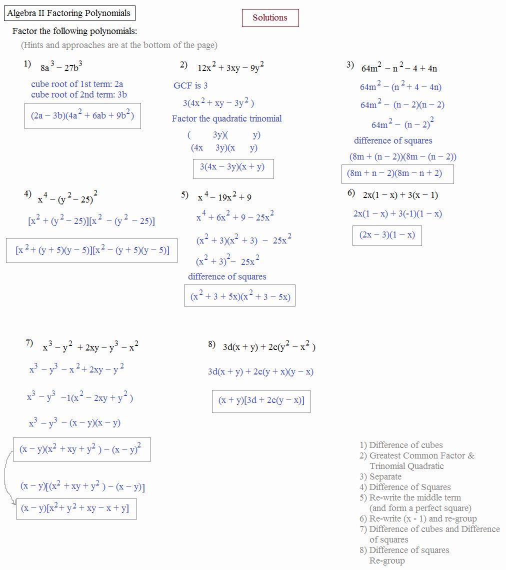 Algebra 2 Factoring Worksheet Inspirational Math Plane