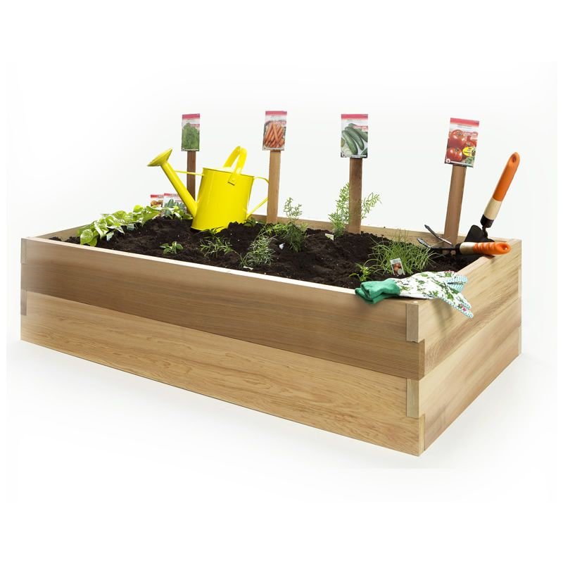 Superior 4ft Double Raised Garden Earth Box For Your Vegetable Garden! $128 At Vimmak