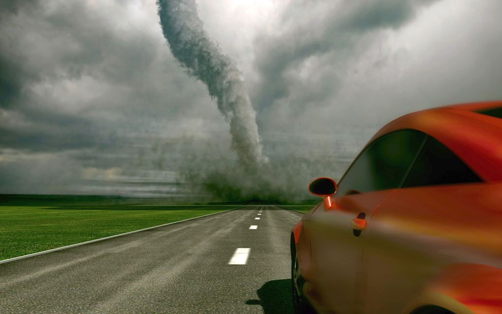 Survive A Tornado When Driving Car Tornado Survival
