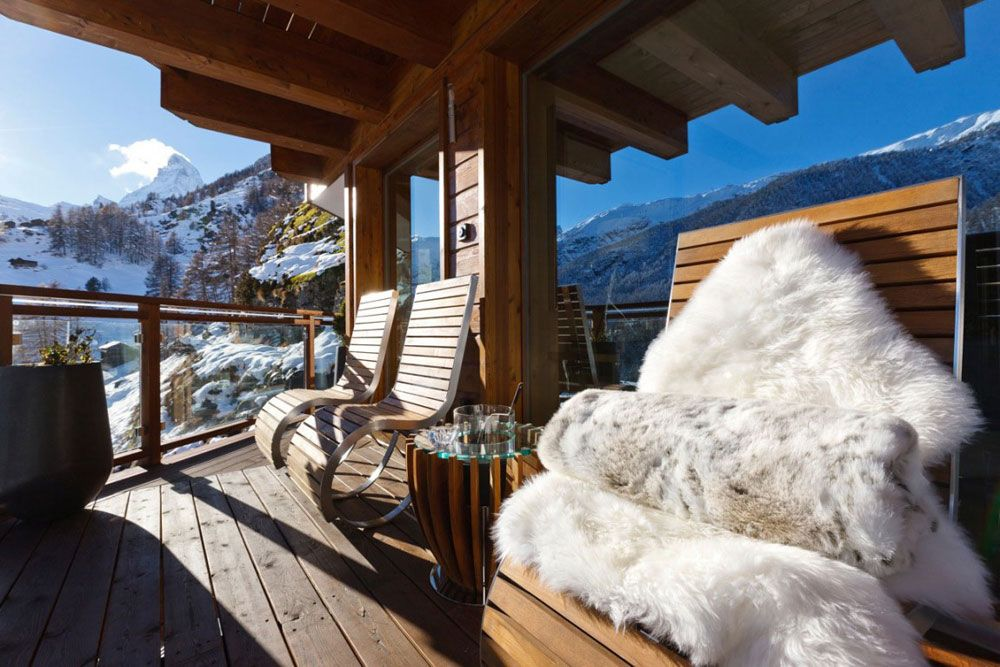 Balcony, Luxury Boutique Chalet in Zermatt  : :  Join us on Facebook: https://www.facebook.com/HomeInspiration