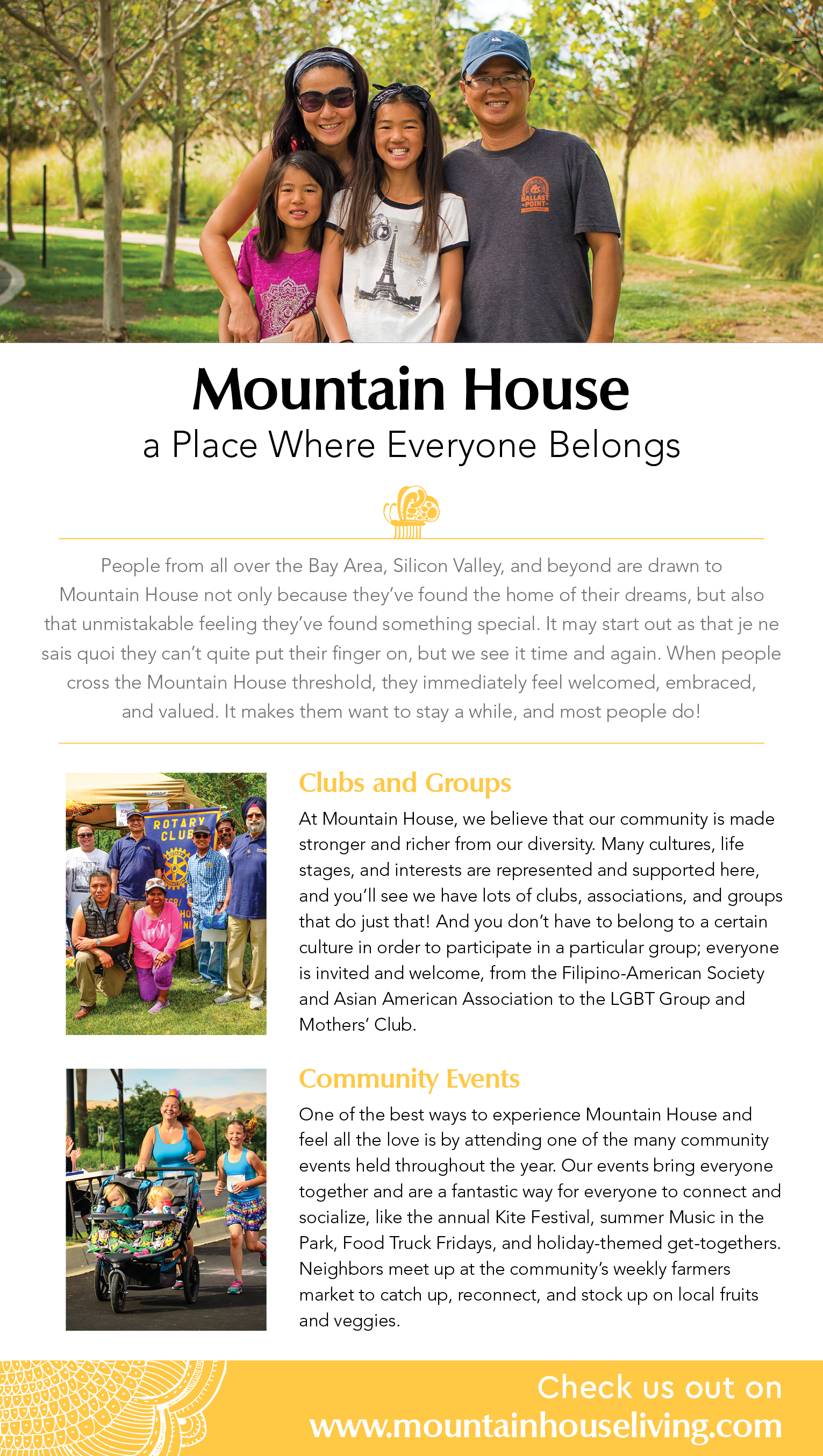 At Mountain House, everyone is welcome. Read all about the clubs, groups, and community events that help make residents feel included and at home!