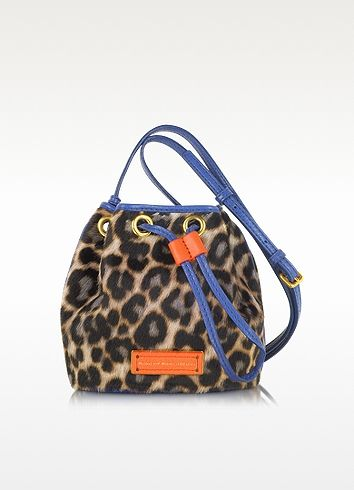 85549f792f3b Marc by Marc Jacobs Too Hot To Handle Mini Drawstring Leopard Print Calfhair  Shoulder Bag AMD