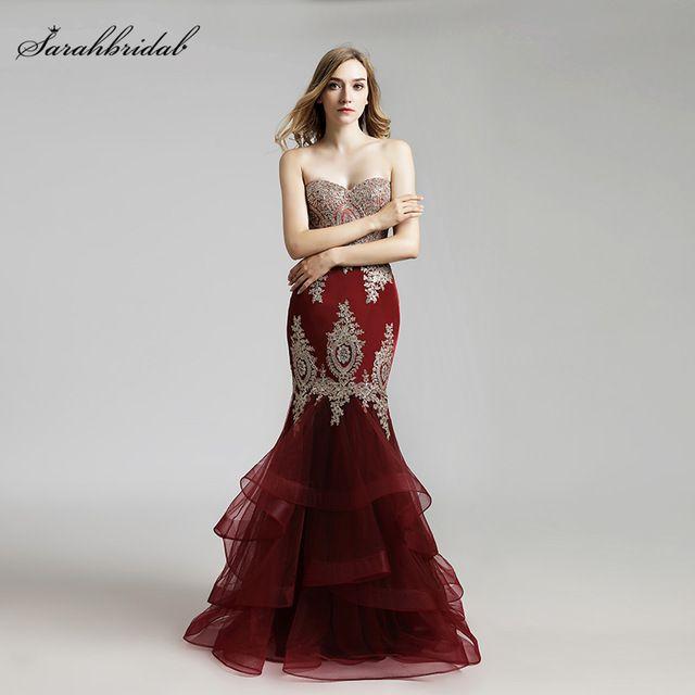 Vestido De Festa Latest Styles Elegant Long Mermaid Prom Dresses ...