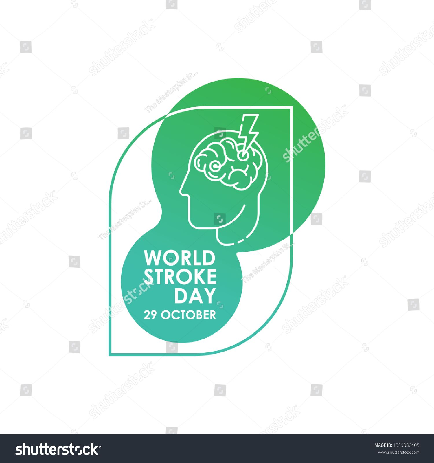 World Stroke Day Vector Logo Poster Illustration Of World Stroke Day On October 29th Health Care Awareness Campaign Ad Aff Vector Logo Poster World