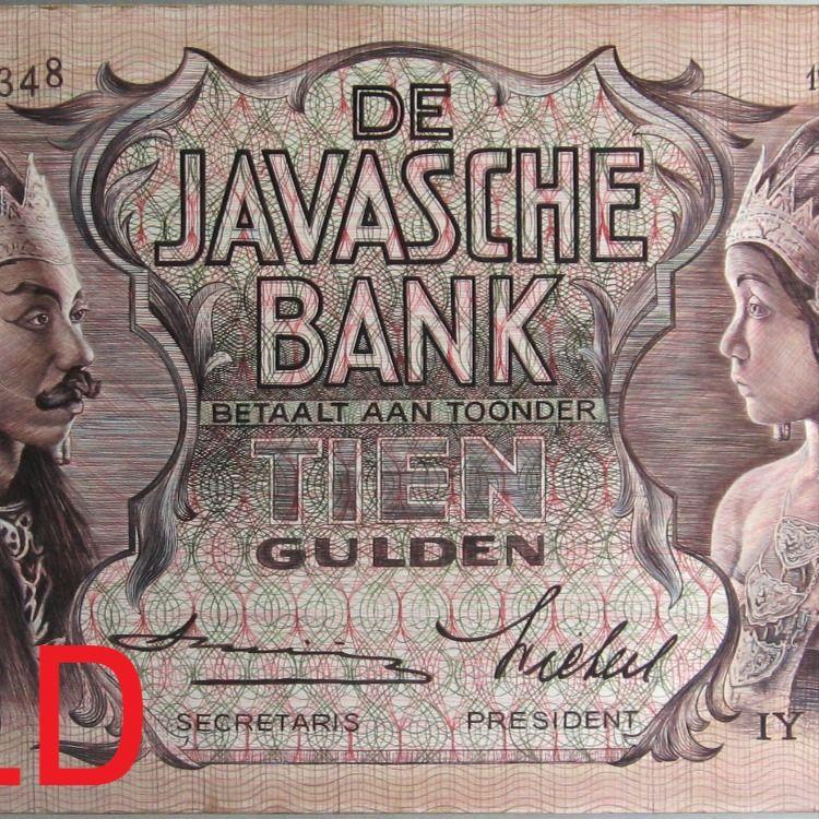Lukisan Uang Wayang 5 Dan 10 Gulden Lukisan Uang Kertas