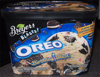 Oreo Birthday Cake Ice Cream Breyers Review