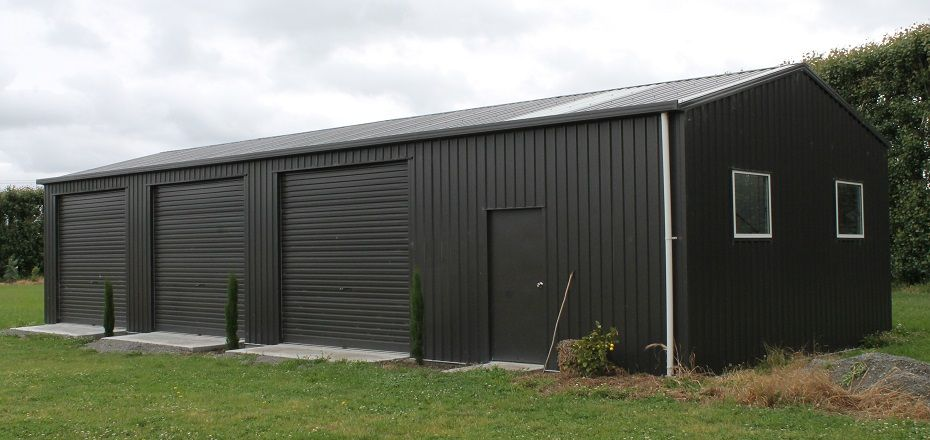 Three Door Garage With Workshop Workshop In 2019 Garage