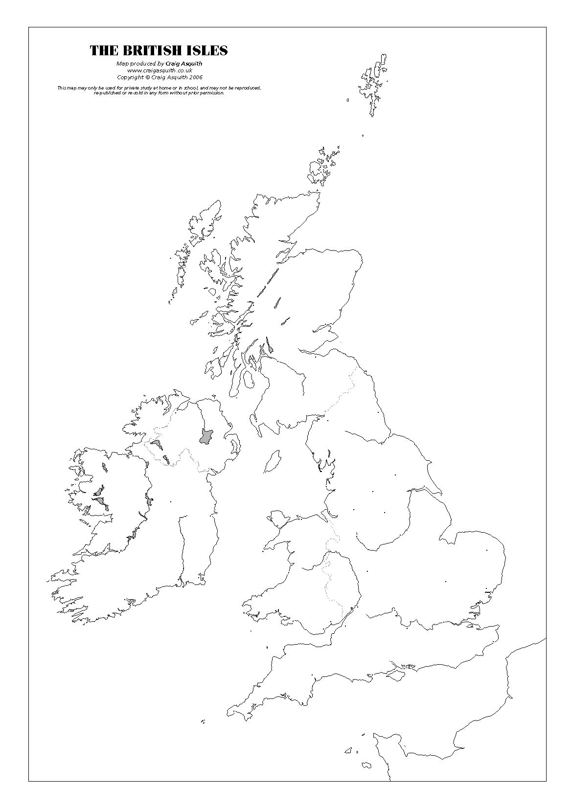 British Isles Map With Cities Great Resource Great Intro