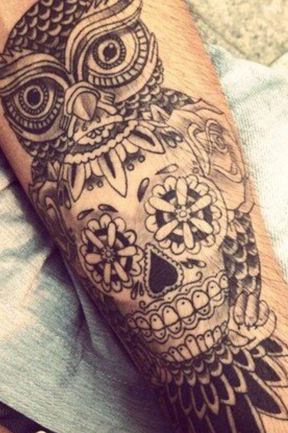 Afbeeldingsresultaat Voor Owl Skull Tattoo Meaning Tattoo Ideas