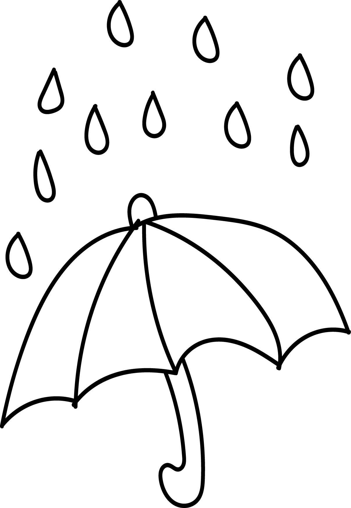 Nice Aftershock Spring Rain Umbrella Free April Coloring Page