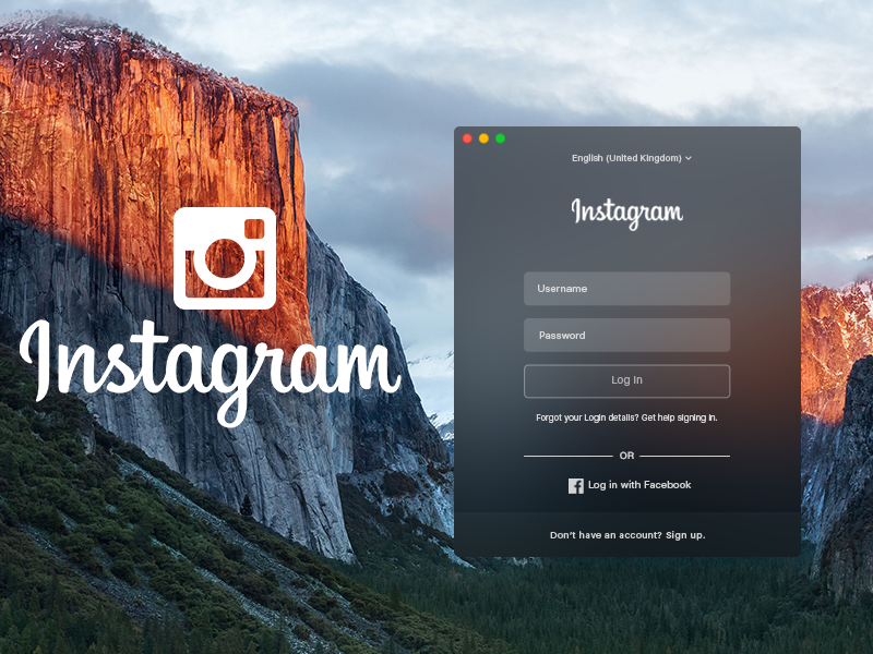 Instagram for OS X El Capitan