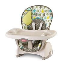 fisher price space saving high chair outdoor double rocking white saver pear babies r us