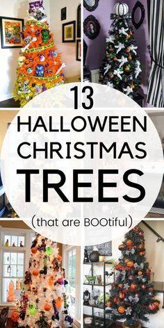 13 Halloween christmas tree ideas. | halloween tree ideas | Halloween christmas tree decorations. #halloween #christmastree #halloweenchristmastree #halloweentreeideas #halloweentrees