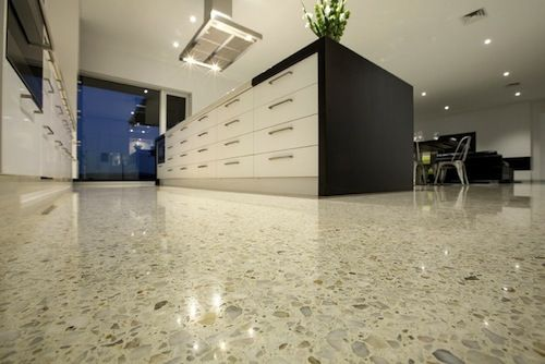 Beautiful Polished Concrete Floor Kitchen Ground And Polished