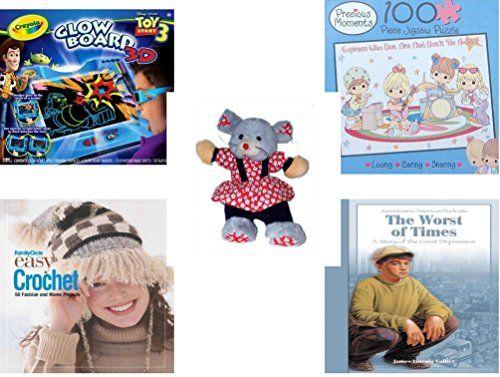 Girls Gift Bundle Ages 612 5 Piece Crayola 3D Glow Board Disney Toy ...