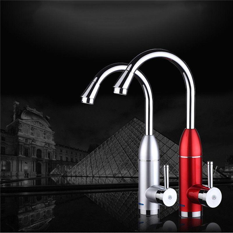 220 v 50 hz led elektrische wasserhahn durchlauferhitzer for Durchlauferhitzer bad
