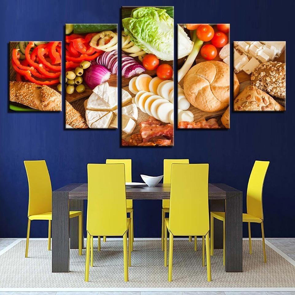 Vegetables wall art | WALL ART CANVAS | Pinterest | Kitchen decor ...