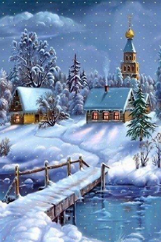 Beautiful Christmas Wallpaper Scenes | Winter, Weihnachten ...