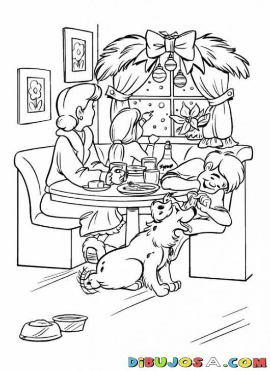 Colorear Mama Soltera Con Sus Hijos En La Cena De Navidad Colorear Dibujos De Navidad Colorear Mama Solte Dibujos De Navidad Dibujos Dibujos Para Colorear