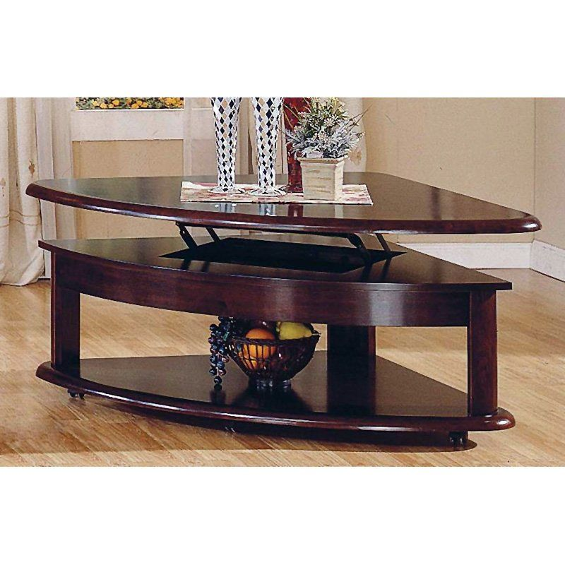 Steve Silver Lidya Corner Wedge Lift Top Coffee Table With Casters 384 00