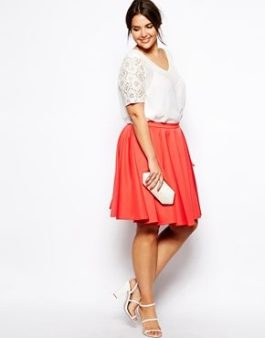 Image 4 ofASOS CURVE Exclusive Lace Sleeve Top