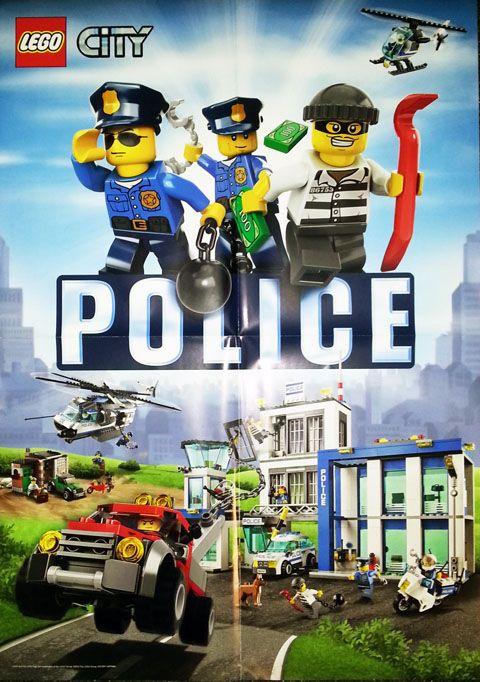 Lego Poster City Politie En Boeven Gratis Lego Ideeen Lego Lego City