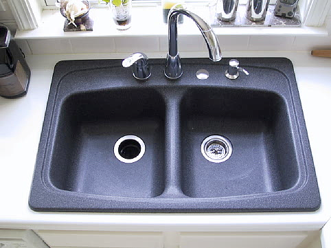 Haze On Your Black Granite Composite Sink A Regular Basis Clean The With Dish Washing Detergent Dawn For Water Spots Use White Vinegar And To