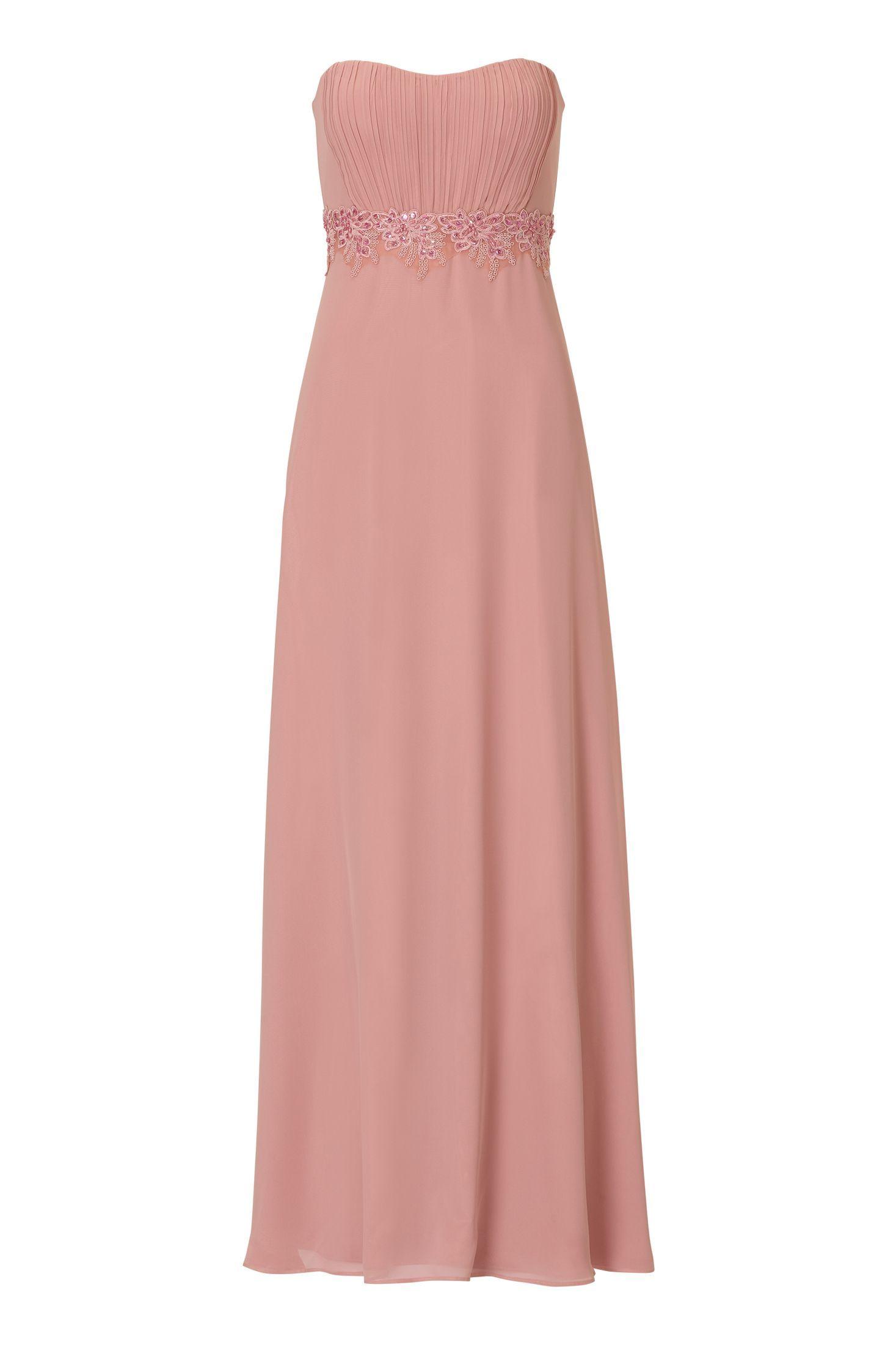 brautjungfernkleid chiffon rosa vera mont in 2020