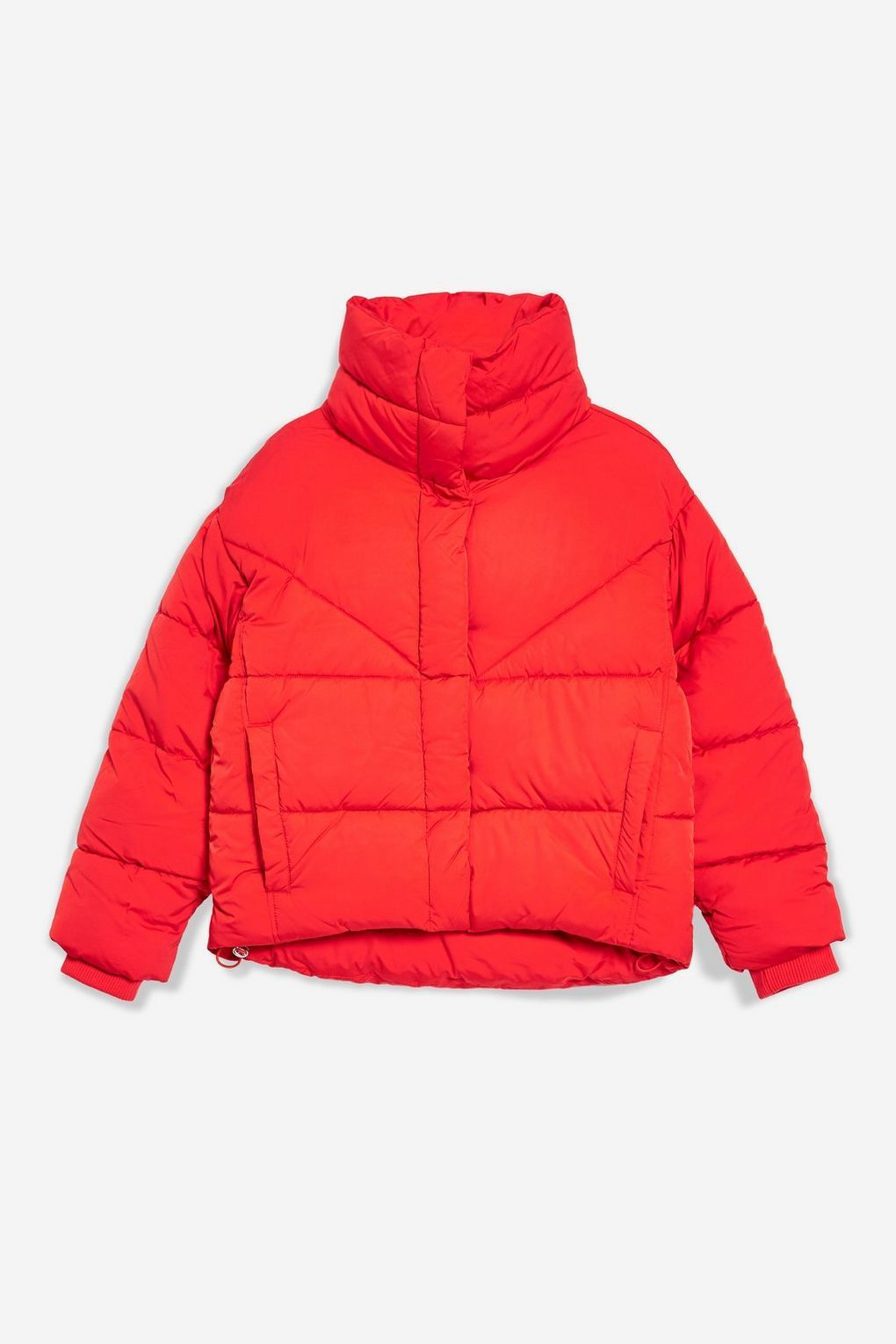 Red Wrap Puffer Jacket Jackets Coats Clothing Topshop Usa Jackets Puffer Jackets Winter Jackets [ 1530 x 1020 Pixel ]