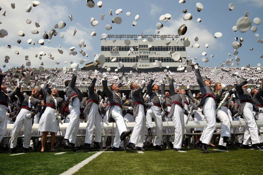Graduation Hat Toss West Point  04166c7fa7a0