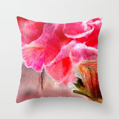 Woven petals (2). Throw Pillow by Mary Berg - $20.00