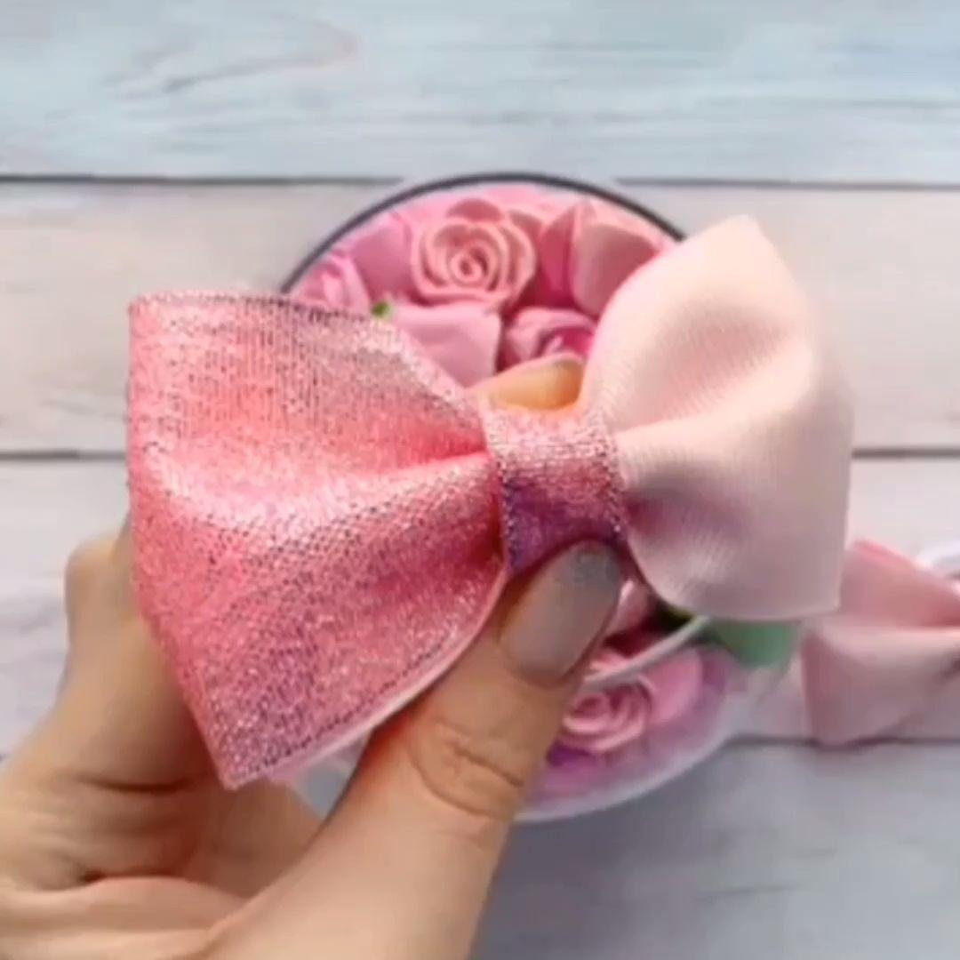 Diy laço duplo -#artesanato #decoração #ideias #cetim #rosa #rose #diy #diyhomedecor #laços