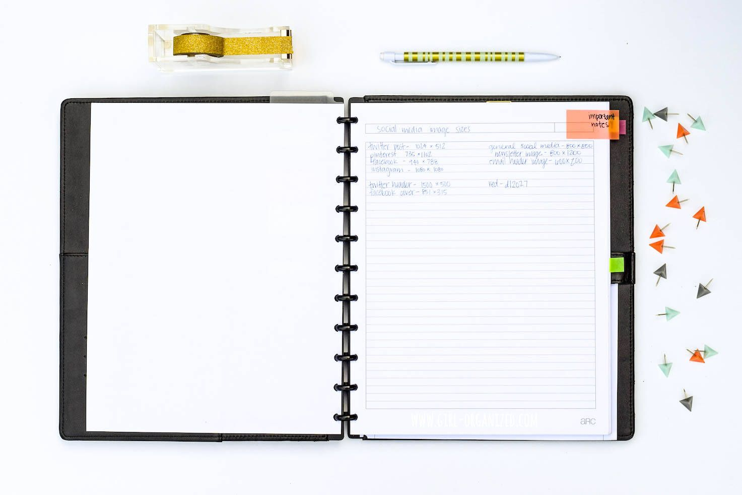 Organize your to do list with arc notebooks arc notebook