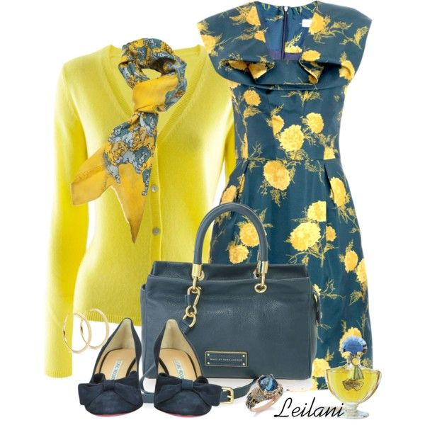 """Oriental floral dress with blues and yellows"" by leilani-almazan on Polyvore"